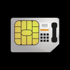 sim card with telephone