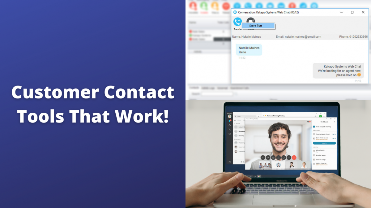 unity web chat and a webex call with a man